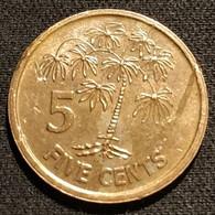 SEYCHELLES - 5 CENTS 2012 - KM 47a - Seychelles