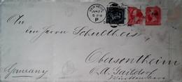 G 24 Lettre/document  1896? Lettre Pour Allemagne - Storia Postale