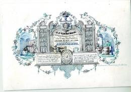 DE 625 - Carte Porcelaine Du J.E. Verburgh, Aubergiste, Tonnelier Et Cireux De Vin, Audenarde, Imp J. Bevernaege. - Sin Clasificación