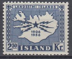 ++M1454. Iceland 1956. Telecommunication. Michel 311. MNH(**) - Ungebraucht