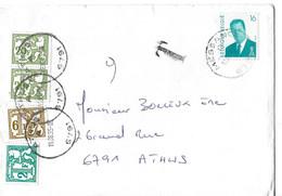 Lettre Avec Tx 74-78-83 Oblit  Athus - Lettere
