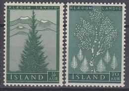 ++M1457. Iceland 1957. Foresting. Michel 320-21. MNH(**) - Ungebraucht
