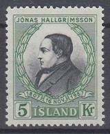 ++M1458. Iceland 1957. Hallgrimsson. Michel 322. MNH(**) - Ungebraucht