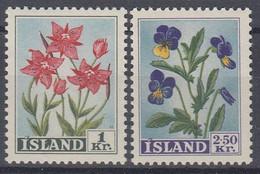 ++M1459. Iceland 1958. Flowers. Michel 323-24. MNH(**) - Ungebraucht
