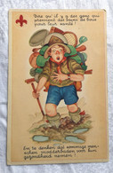 Carte CPA Illustrateur SCOUT Scoutisme Bains De Boue - Scouting