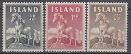 ++B1926. Iceland 1958-60. Islandic Horse. Michel 325-26 + 342. MNH(**) - Ungebraucht