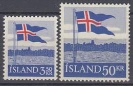 ++M1460. Iceland 1958. Flag. Michel 327-28. MNH(**) - Ungebraucht