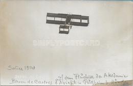 OLD REAL PHOTO POSTCARD AVIAZIONE - PUCHHEIM BEI MUNCHEN  - BARONE DE CARTRES - ESTATE 1910 - U57 - ....-1914: Precursori