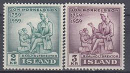 ++M1461. Iceland 1958. Thorkelsson. Michel 331-32. MNH(**) - Ungebraucht