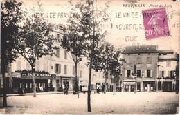 FR66 PERPIGNAN - Navarro - Place Du Puig - Café Magnan - Marchand Ambulant - Tabac - Animée - Belle - Perpignan