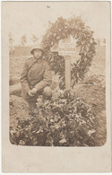 PHOTO CARTE -  TOMBE ALLEMANDE - War 1914-18