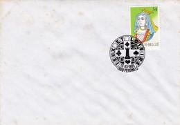 Enveloppe 2595 échec Jeux De Carte Dame Péruwelz - Storia Postale