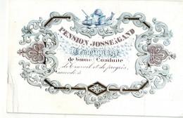 DE 630 - Carte Porcelaine Du Pension Josse, Gand - Sin Clasificación