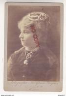 Au Plus Rapide Photo Foto Format Cabinet Fotografia Parigina Jacques Via S Camillo Messina - Ancianas (antes De 1900)