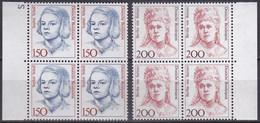 BRD, 1991,  Nr. 1497-1498 ** Frauen Der Deutschen Geschichte (XII), 2 Viererblöcke - Neufs