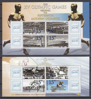 Antigua & Barbuda - SUMMER OLYMPICS HELSINKI 1952 - Set 1 Of 2 MNH Sheets - Sommer 1952: Helsinki