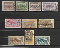 Lot De 10 Timbres Différents Du Congo Français - Emis De 1900 à 1933 - Zonder Classificatie