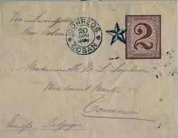 1890 GUATEMALA , COBAN - TOURNON , FAJA POSTAL CIRCULADA VIA LIVINGSTON - NUEVA ORLEANS , MARITIME MAIL - Guatemala