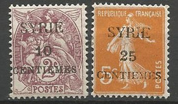 SYRIE N° 105 Et 106 NEUF* TRACE DE CHARNIERE  / MH - Unused Stamps