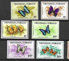 Trinidad And Tobago Butterflies Set 1972 12 Euros Mnh ** - Butterflies