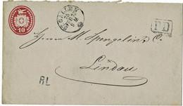 "1873, GA "" St. Gallen "", RL - Stp.  A4582 - Covers & Documents"