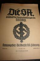Militaria Allemagne Nazie DIE SA Zeitschrift Der Sturmabteilungen Der NSDAP 1940 Journal Des Sections D'assaut - 5. Wereldoorlogen