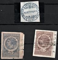 MARTINIQUE QUITANCE  Et DIMENSION De France Oblitération MARTINIQUE + CACHET FISCAL FISCAUX REVENUE - Timbres-taxe