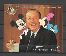 Disney Dominica 1998 Walt Disney MS MNH - Disney