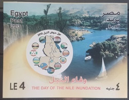 HX - Egypt 2013 MNH Block Souvenir Sheet - The Day Of The Nile Inundation - Great River - Flags - Africa - Unused Stamps