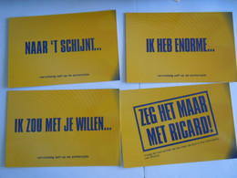 Pub Reclame 4 Kaarten Cartes Ricard - Boomerang - Publicidad