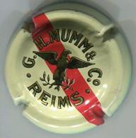 CAPSULE-CHAMPAGNE MUMM & Cie N°87 Petit Aigle, Crème Et Or, Une Barre Rouge - Mumm GH Et Cie