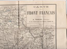 Guerre 1914/1918 - Carte Du Front Français (Editeur : Taride) / Format 56/50 Cm - 1914-18