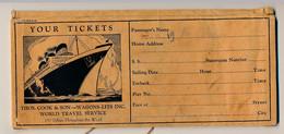 Pochette Cartonnée Pour Billets Et Travellers Chèques - Thos. Cook & Son - Wagons-lits Inc - Wordl Travel Service - Other