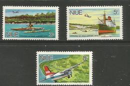 Niue - 1970  Niue Airport MNH **     SG 155-7   Sc 136-8 - Niue