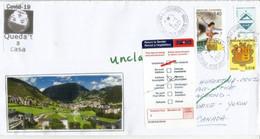 Lettre D'Andorre Adressée à Whitehorse/ Pendant Confinement Andorra & Lockdown In Spain,return To Sender,not Delivered - Cartas