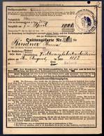 Carte Quitance Des Assurances Sociales - Quittungsfarte - Alsace-Lorraine