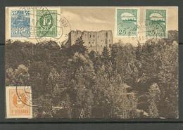 Estland Estonia 1920 O Tallinn Post Card To Germany Michel 6  & 8 & 10 & 15 - Estonia