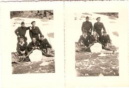 Lot De 2 Photographies De Montagne, Hautes-Pyrénées, Gendarmes De La CRS 29 De Lannemezan, Vers 1955, Aure - Guerra, Militari