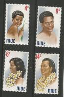 Niue - 1972  Local People MNH **     SG 162-5   Sc 143-6 - Niue