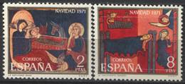 España, 1971, Navidad, Altar De Sant Andreu De Sagars, Serie Completa, MNH** - 1971-80 Nuevos & Fijasellos
