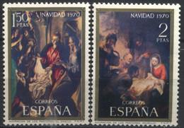 España, 1970, Navidad, Adoraciòn De Los Pastores (el Greco), Adoraciòn De Los Pastores (Murillo), Serie Completa, MNH** - 1961-70 Nuevos & Fijasellos