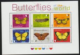 Butterflies S/Sheet With 6 Stamps Burundi MNH - Vlinders