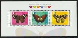 Butterflies S/Sheet With 3 Stamps Burundi MNH - Vlinders