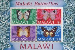 MDV-BK2-393-2 MINT PF/MNH ¤ MALAWI 1973 BLOCK ¤ - BUTTERFLIES - FARFALLE - MARIPOSAS - PAPILLONS - VLINDERS - Vlinders