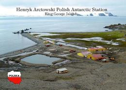 Antarctica Henryk Arctowski Station Poland New Postcard Antarktis AK - Other