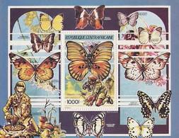 MDV-BK3-435 MINT ¤ CENTRAFRICAINE 1990 BLOCK ¤ SCOUTING VLINDERS BUTTERFLIES MARIPOSAS PAPILLONS SCHMETTERLINGE - Vlinders