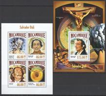 ST2537 2013 MOZAMBIQUE MOCAMBIQUE ART PAINTINGS SALVADOR DALI KB+BL MNH - Sonstige