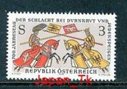ÖSTERREICH Mi. Nr. 1580 700. Jahrestag Der Schlacht Bei Dürnkrut Und Jedenspeigen - MNH - 1971-80 Nuovi & Linguelle