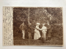 Photo Carte 1903 Bicyclette Groupe Persons Mode Bordessoule? Limouges? - Limoges