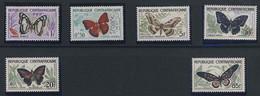 MDV-BK5-253 MINT ¤ CENTRAFRICAINE 1960 6w In Serie ¤ VLINDERS - BUTTERFLIES - MARIPOSAS - PAPILLONS - SCHMETTERLINGE - - Vlinders